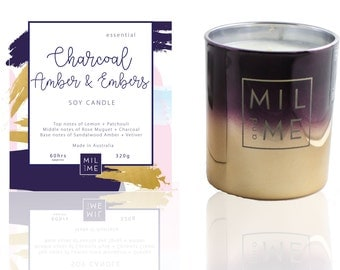 Charcoal Amber + Embers | Essential Candle