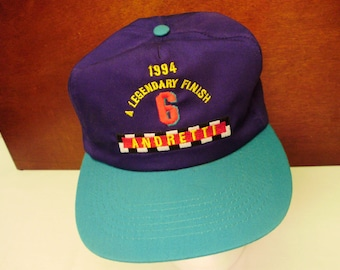 1994 Legendary Finish #6 Andretti Purple Teal Snap Back Indy Racing Trucker Hat