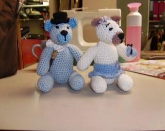 Wedding couple crochet