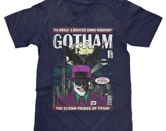 Gotham Joker T-Shirt Batman DC Comics (Licensed) Available in Adult & Youth Sizes