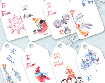 Christmas Printable Tags, Christmas gift tags Printable, pdf, diy Christmas tags, handmade gift tag, printable gift tags, digital download