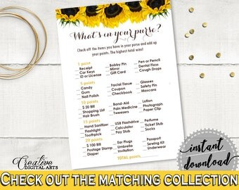 What's In Your Purse Bridal Shower What's In Your Purse Sunflower Bridal Shower What's In Your Purse Bridal Shower Sunflower What's In SSNP1