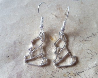 Geometry rabbit earrings ~ silver ~