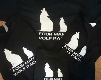 Four man wolf pack t-shirt