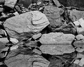Rock Reflections matted fine art archival print