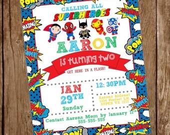 Super Hero Party Invite!