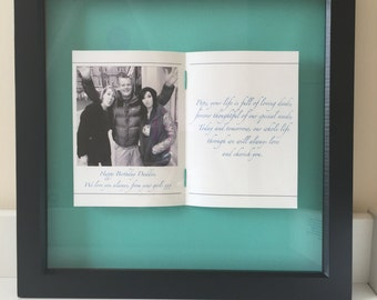 Personalised Fathers Day/Birthday Photo Frame
