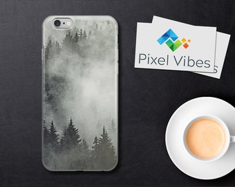 Forest iPhone Case, Foggy Forest iPhone 6 Case,  Nature iPhone Case, Fog iPhone Case, Black and White iPhone 7 7Plus 6 6Plus 5 5s SE Case