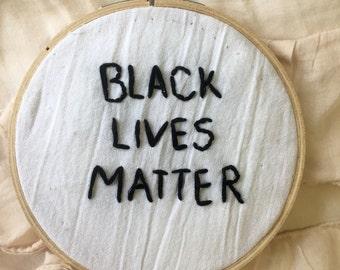 Black Lives Matter Embroidery
