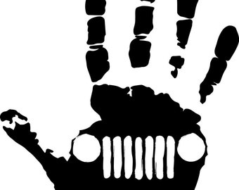 Jeep lovers high five / wave sticker/ decal