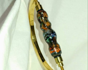 Moretti handmade glass bead focal.