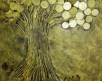 Money tree out of coins