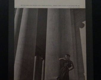 Ben Reig, Toni Frissell, De Pinna NY, Garfinckel & Co, Ben Barack, Designer Fashion Ad, Vintage Vogue, 1955, Wall Decor