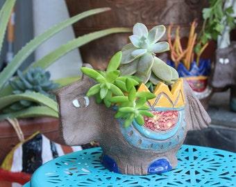 Succulent Pony Stoneware Planter  - small