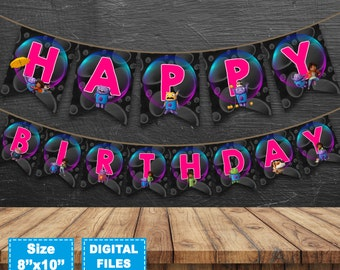 Home movie banner, dreamworks home movie birthday banner, home movie birthday party, home movie instant download, home movie party supplies.
