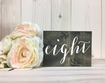 Double Sided Table Numbers // Rustic Wedding Table Numbers // Wood Table Numbers // Wedding Decor // Summer Wedding // Block Table Numbers