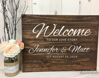 Wedding Sign // Welcome Sign // Wedding Welcome Sign // Wedding Wood Sign// Rustic Wedding // Wood // Custom Wood Sign // Made to order