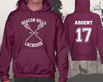 Teen Wolf Hoodie Beacon Hills Lacrosse Hoodies Argent 17 Unisex and Mens