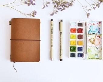 Traveler completo Notebook Passport size Brown