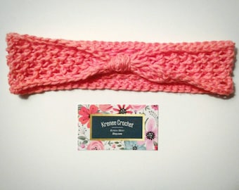 Coral Knotted Crochet Headband