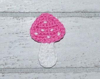 Mushroom - Toadstool - lucky - application - patch - crochet