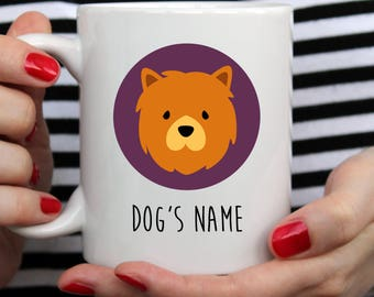 Chow Chow Dog Name Mug | Chow Chow Dog Mug | Chow Chow Mug | Cute Mug | Pet Name Mug | Dog Name Mug | Dog Mug | Custom Mug | Gift Dog Mug