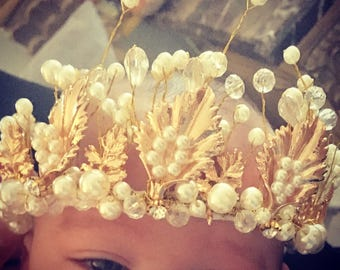 Vintage inspired baby girl crown bling photography prop