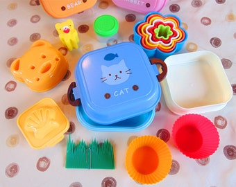 Blue Kitty Bento Box Kit