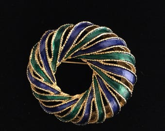 BOUCHER ENAMELED  BROOCH