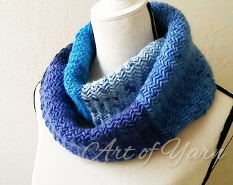Winter Blues Infinity Scarf