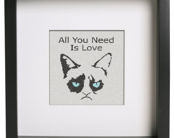 All You Need Is Love Cross Stitch Pattern