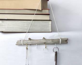 Driftwood jewelry / key rack / recycled key rack / recycled jewelry rack / necklace holder / recycled jewelry holder