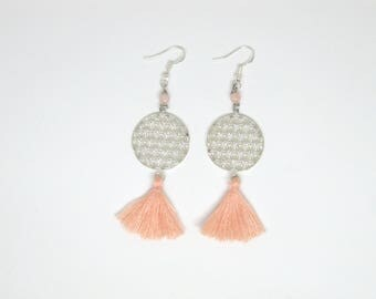 "Earrings ""Talisha"" salmon pink"