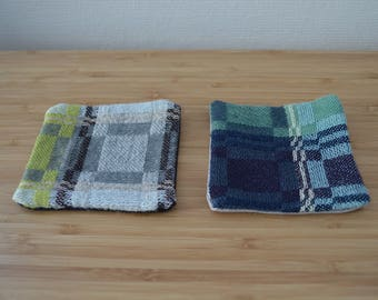 set of handwoven coasters with Swedish traditional pattern 6