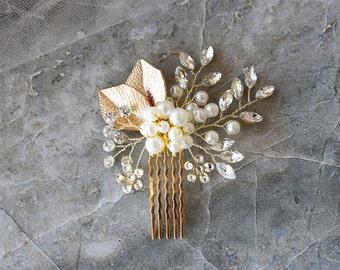Vintage Pearl Rhinestone Wedding Hair Pin, Bridal Accessories