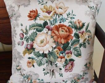Cushion Cover - 'Vintage Bouquet'