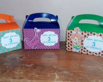 Pebles and bam bam candy boxes birthday