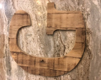 Large Rustic Wood Letters