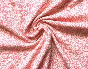 2.5 Yard Knit Fabric, Jersey Knit Fabric, Fabric by the Yard, Stretch Fabric, Cotton Knit Fabric - Pink Abstract