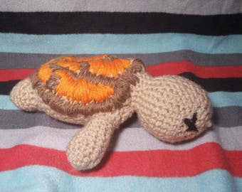 Handmade Yarn Turtle Plush