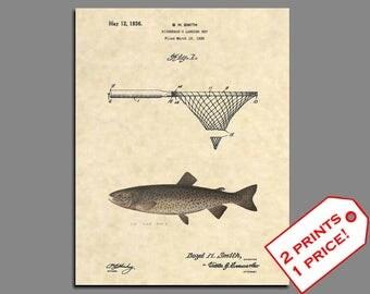 Fishing Wall Art - Tahoe Trout Fishing Patent - Trout Fishing Poster - Patent Prints - Fishing Lure - Fishing Art - Vintage Patent Print 380