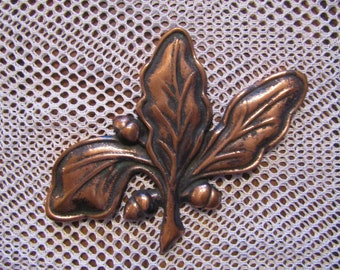 MCM Shipyard Art Brass Live Oak Leaf Paperweight