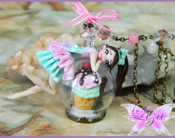 Ice Cream Doll Necklace