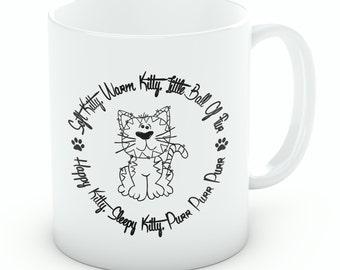 Soft Kitty Warm Kitty Mug, Sheldon Cooper Cup, Big Bang Theory Gift (Ref M07)