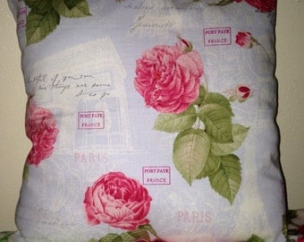 Rose and paris  pillow