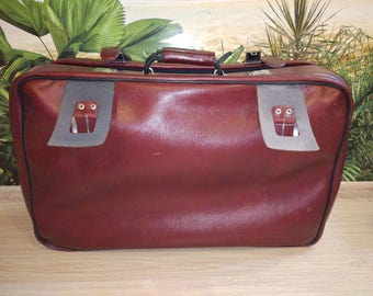 Soviet leather suitcase 1982