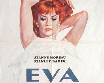 Eva 1962 Original French Movie Poster