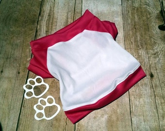 Dark Pink and White two tone, dog shirt, puppy shirt, dog clothing, handmade for your pet, dog clothes, Custom made dog apparel, puppy