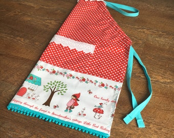 Kids Baking Apron. Little Red Riding Hood.