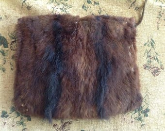 Vintage fur hand muff (see description)